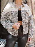 Lover of Love Taupe Leopard Denim Jacket