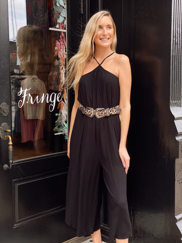 Jump Into Style Black Jumpsuit