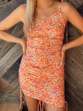 Open Fields Orange Floral Dress
