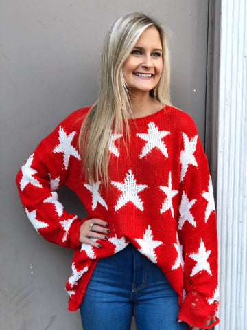 Rockstar Red Sweater