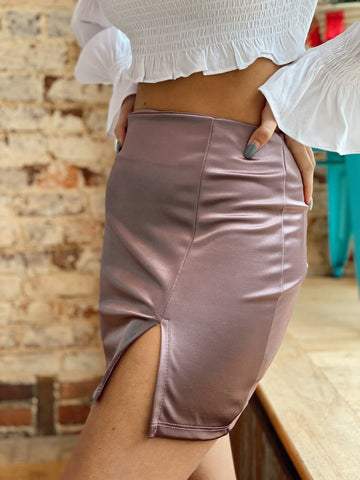 Set Me Up Lavender Skirt
