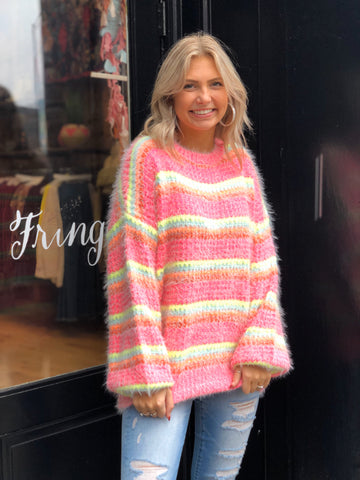 Watermelon Sugar Pink Sweater