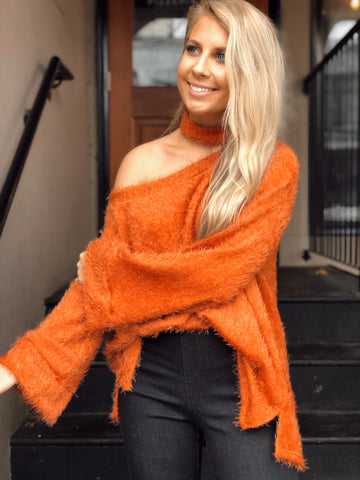 Fur Sure Rust Sweater