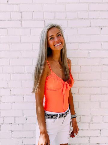 Summer Lovin' Orange Bodysuit