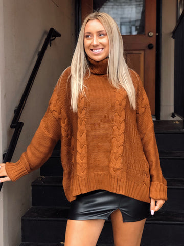 Knit To Be Mocha Sweater