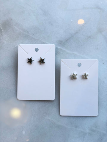Bedazzled Star Studs
