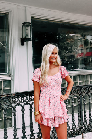 Petal to the Metal Pink Floral Romper