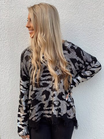 Forever Wild Black Sweater