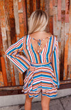 Walk the Line Striped Romper