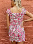 Pink Meadows Floral Print Dress