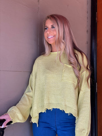 Knit With It Lime Sweater