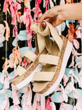 The Mandy Woven Flatform in Nude
