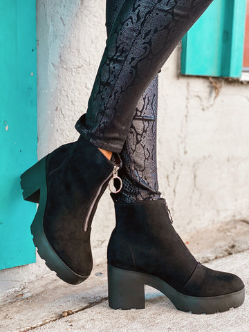 Step Into It Black Booties
