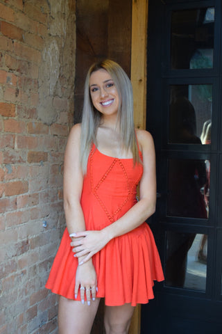 From A Song Tomato Orange Dress
