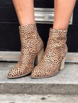 Above Average Cheetah Print Booties