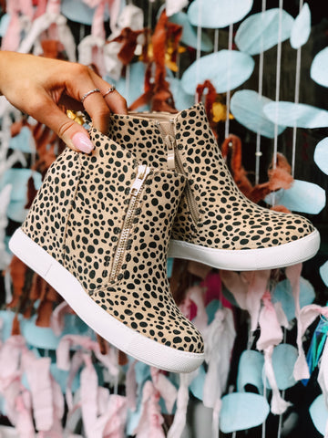 Cheetah Girl Wedge Sneakers