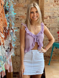 Easy Breezy Lavender Top