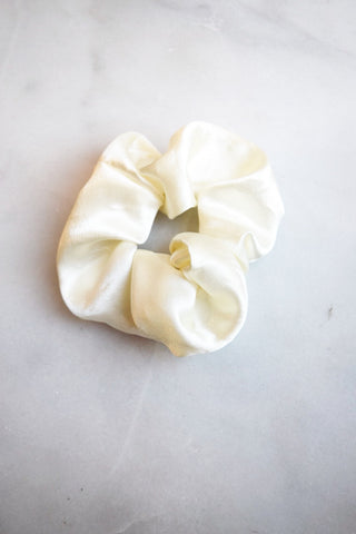 Overly Excited Ivory Scrunchie