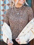 Around The Block Leopard Turtleneck Top
