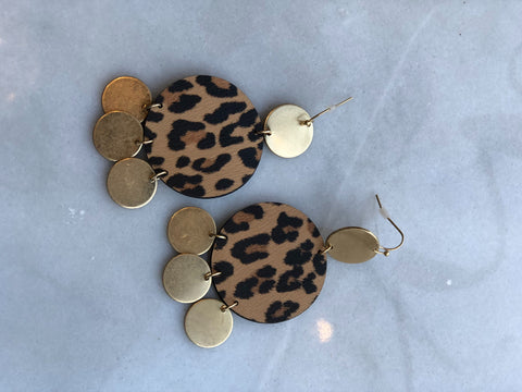 Ooo La La Brown Leopard Earrings