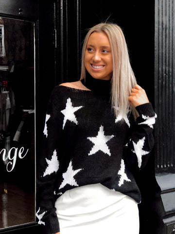 Star Girl Black Sweater