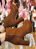 Groovy Baby Brown Platform Booties