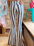 All About The Hype Striped Flares
