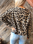 On The Prowl Grey Leopard Sweater