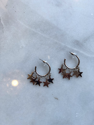 Just a Little Jingle Silver Earrings