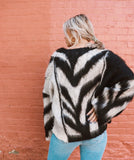 Wild Thoughts Fuzzy Zebra Sweater