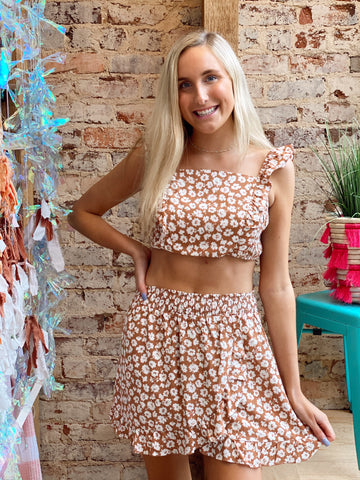Flower Child Rust Two Piece Set