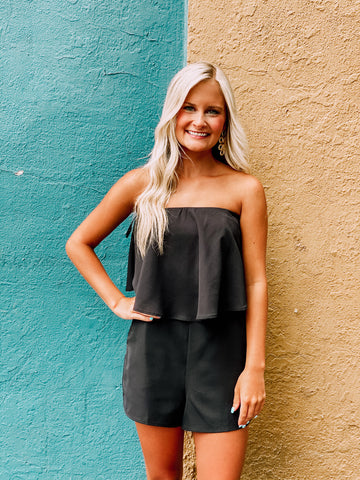Uptown Girl Black Romper