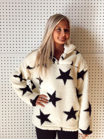 Trips To Space Cream Star Pullover