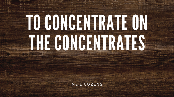 To Concentrate on the Concentrates (4 min read)