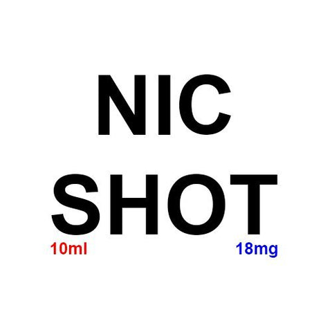 18mg 10ml Nicotine Shot 100% VG