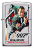 Frontansicht Zippo Feuerzeug chrom  Sean Connery in Thunderball
