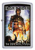 Frontansicht Zippo Feuerzeug Iron Maiden The Wicker Man Cover