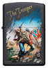 Frontansicht Zippo Feuerzeug schwarz Iron Maiden Single Cover The Trooper
