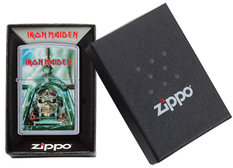 Zippo Feuerzeug Iron Maiden Single Cover Aces High in offener Box