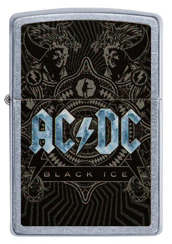 Frontansicht Zippo Feuerzeug AC/DC Cover Black Ice 2