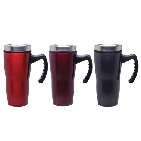 16 oz Double Wall Insulated Stainless Steel Stealth Mug with Plastic Liner - Case of 24