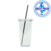 20 oz Double Walled Acrylic Tumblers *Stocked in the USA* Case of 24 pcs
