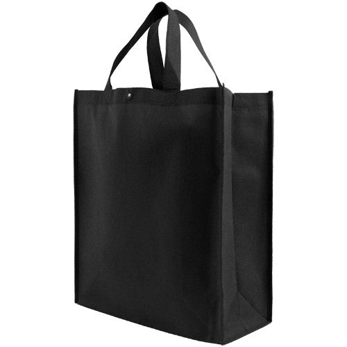 Reusable Grocery Tote Bag Large - Black* Case of 100 pcs