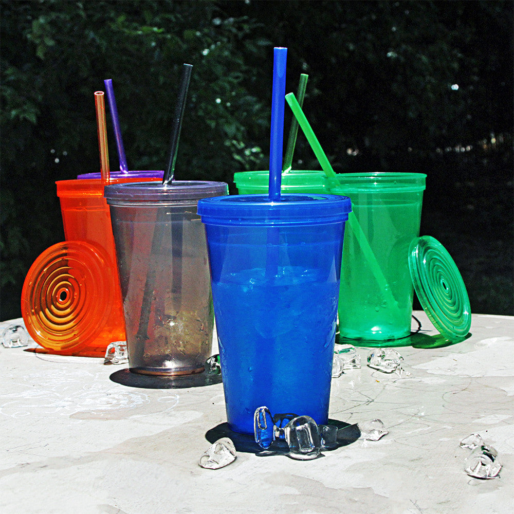 16 oz Made in America BPA Free Plastic Tumblers Case of 60 pcs