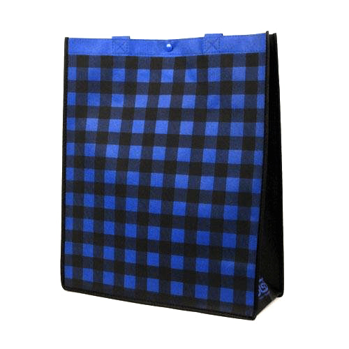 Reusable Grocery Totes in Plaid - Misc 28 Pack