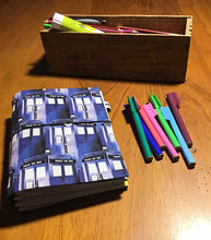 Load image into Gallery viewer, Handmade Notebook  - Dr Who - Tardis - A5 TNN004