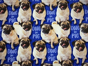 Handmade Notebook - Doug The Pug - A5 - TNN023