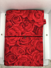 Load image into Gallery viewer, Handmade Notebook - Roses are Red A5 TNN002