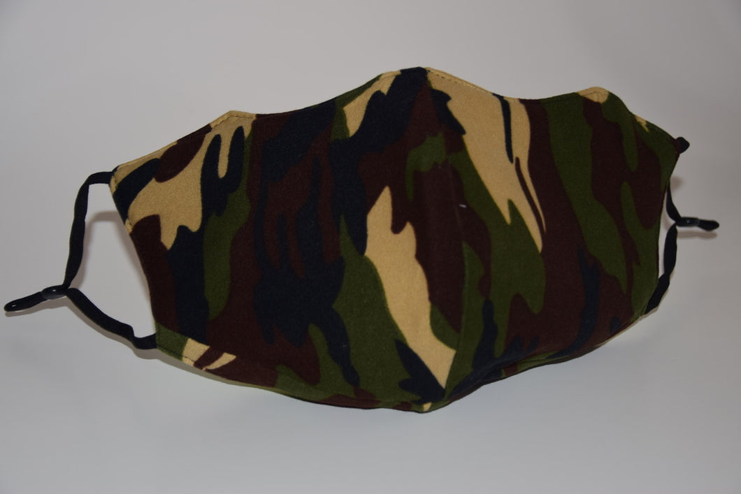 Camo Cotton Face Mask (available in 2 colours)