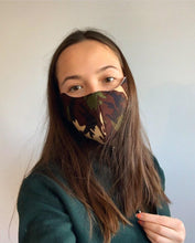 Load image into Gallery viewer, Camo Cotton Face Mask (available in 2 colours)